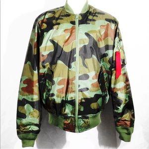 Amongst Others Camouflage Bomber Jacket